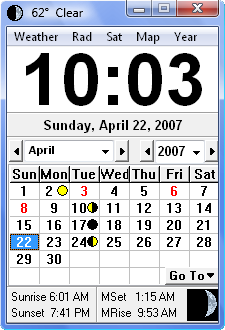 Click to view Click Clock 2.9.8 screenshot