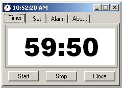 Egg Timer is a simple countdown timer like a cooking timer in a kitchen