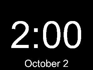 digital clock screensaver